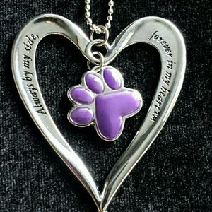 NWOT Heart and Paw Purse / Car Charm